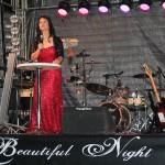 Vanessa Góes dando início ao evento