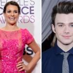 Lea Michelle e Chris Colfer da série Glee