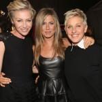 Jennifer Aniston, Ellen DeGeneres e Portia de Rossi