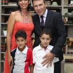 Tais Ventura com Marcelo Maciel e os filhos