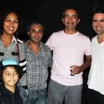 Andrea Santos, Pedro Mauriz (criança) e Adriano Mauriz (Pombas Urbanas – Projeto Cutural de SP) com Manoel Mesquita e Mateus Sartori.