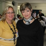 Vera Lúcia Miranda e Suzan Alem, supervisora da escola que entrou para a história da cidade