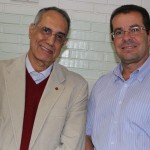 Suami Paula de Oliveira e Werner Stripecke, diretor da Clariant