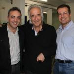 Gil Fuentes com o querido maestro João Carlos Martins e o não menos querido e simpático Werner Stripecke, diretor da Clariant