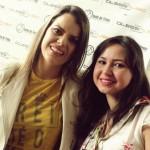 Ana Paula Valadão com Andressa Carolline de Londrina