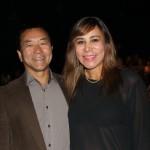 O prefeito de Suzano, Paulo Tokuzumi e Nilce Ramos Tokuzumi