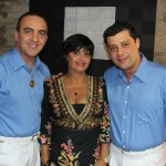 Gil Fuentes e Donovan Navarro com Maxilene Ribeiro
