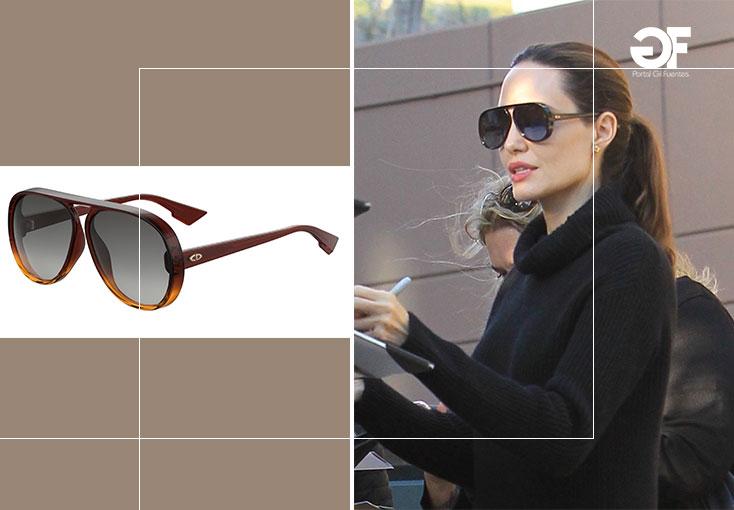 A atriz e filantropa americana, Angelina Jolie apareceu em Los Angeles  usando os óculos DiorLia, da coleção Outono 2017 da Dior. Os óculos  caracterizam-se ... 168306e875